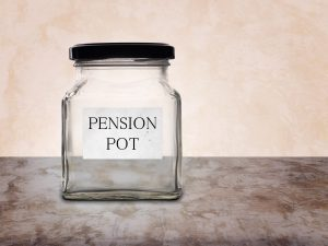 Pension pot jar empty