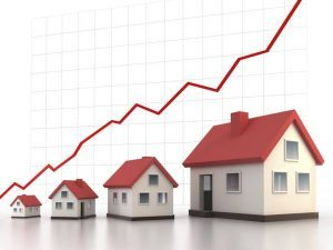 Houses in a line chart